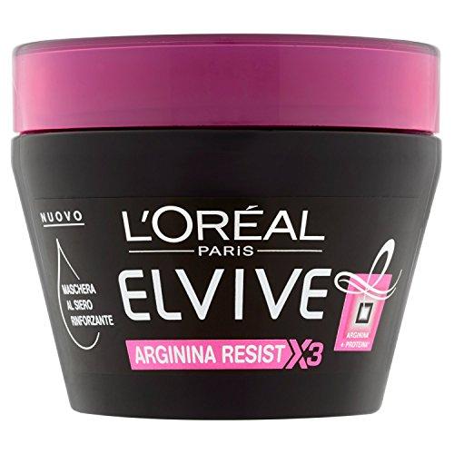 L\'Oréal Paris Elvive Arginina Resist X3 Maschera Rinforzante per Capelli Fragili, 300 ml