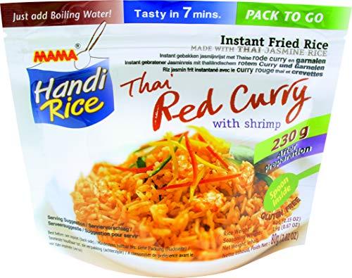 MAMA Arroz Instantáneo Frito, Curry Rojo Con Gamba 80 g