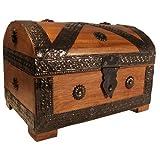 Thunderdog Caja de Madera Maciza de 23 x 16 x 16 cm, Color marrón Claro