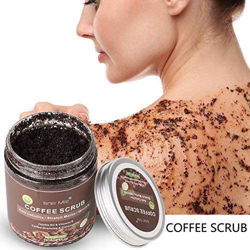 ColorfulLaVie Körperpeeling-Peelings, Kaffee-Peeling Krampfadern entfernen Cellulite Dehnungsstreifen Peeling Creme für den Körper