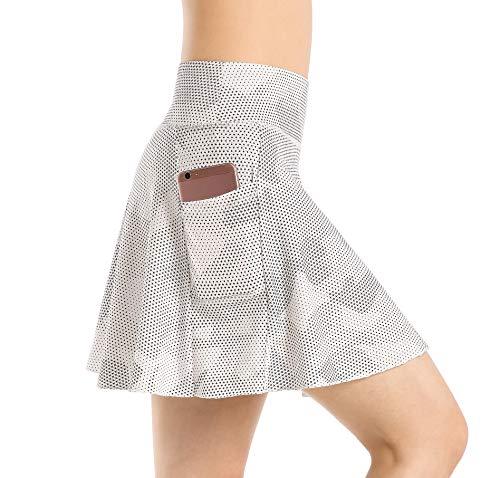 East Hong Faldas de tenis de bolsillo para mujer, ligeras, deportivas, de golf, con pantalones cortos interiores, Mujer, color 176-18-8, tamaño large