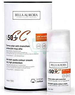 Bella Aurora Crema facial color anti manchas Proteccion SPF 50+ 30 ml.