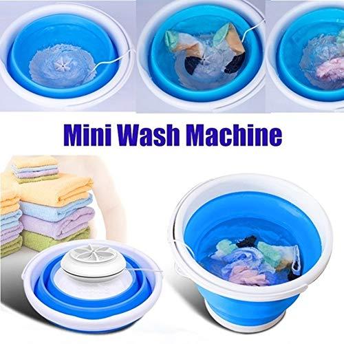 ERTYUI Mini-Waschmaschine, faltbar, tragbar, USB, faltbar, für Reisen, Camping, tragbare Mini-Turbine, C