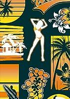 igsticker ポスター ウォールステッカー シール式ステッカー 飾り 841×1189㎜ A0 写真 フォト 壁 インテリア おしゃれ 剥がせる wall sticker poster 004489 スポーツ 海 サーフ