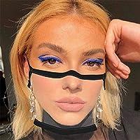3 pezzi di protezione per il viso trasparente con aperta, mezza per il viso in plastica trasparente per il viso protezione elastica comoda per la bocca, protezione per il viso di sicurezza #6