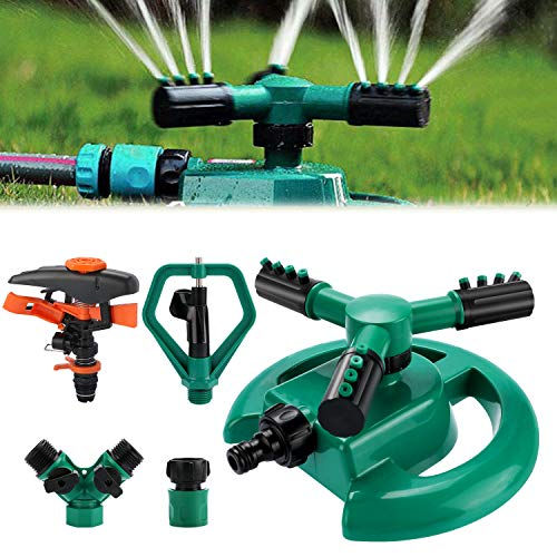 Philonext Garden Sprinkler,Lawn Watering Sprinkler,Automatic 360 Rotating Lawn Sprinkler with a Large Area of Coverage Adjustable Lawn Irrigation System (Lunular)