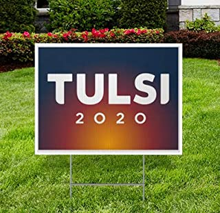 BuildASign Tulsi Gabbard for President 2020 Elections Political Campaign Yard Sign w/Ground Stake- 18