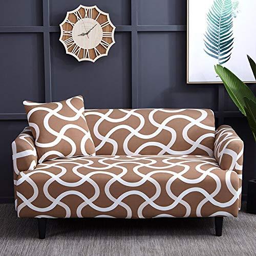 WXQY Funda Protectora de sofá a Rayas Simple combinación Antideslizante Todo Incluido Funda Protectora de sofá Funda Protectora de sofá para Mascotas A24 2 plazas