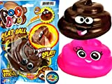 JA-RU Splat Poo Ball Sticky & Stretchy (Pack of 1 Assorted) and Bouncy Ball Poo .6429-Brown-1slp