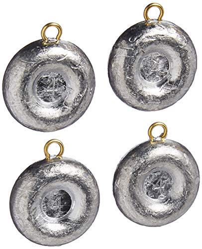 Bullet Weights DSI4-24 Disc Fishing Sinker (4-Pack), 4-Ounce
