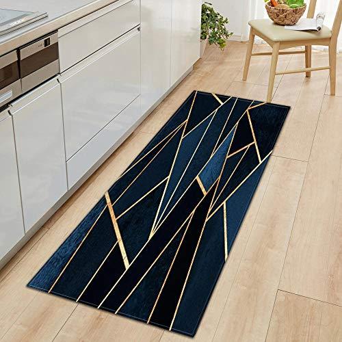 XIAOZHANG Alfombrillas Cocina Franela Suave Mosaico Art Deco Alfombra Antideslizante Lavable Alfombra para Dormitorio Sala De Estar Cocina Pasillo 40X60Cm