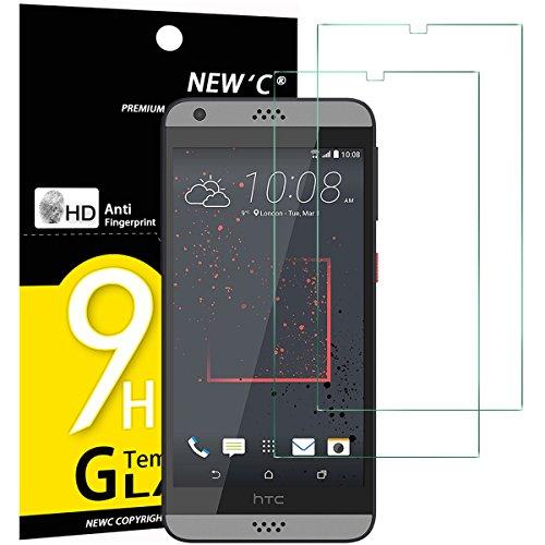 NEW'C 2 Stück, Schutzfolie Panzerglas für HTC Desire 530, Frei von Kratzern, 9H Festigkeit, HD Bildschirmschutzfolie, 0.33mm Ultra-klar, Ultrawiderstandsfähig