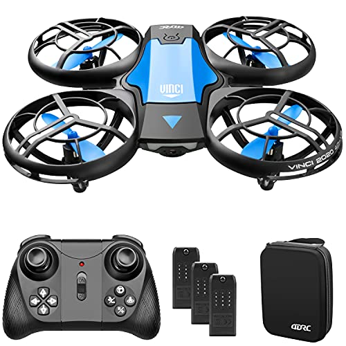 4DRC V8 Mini Drone for Kids Beginners,Hand Operated/Remote Control Helicopter Quadcopter with 3 Batteries, Altitude Hold, Headless Mode, Throwing GO, 3D Flip and Auto Hover,Toys for Boys Girls Gift