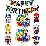 Decorazioni Compleanno Supereroe Compleanno Palloncini Supereroi Striscioni di Buon Compleanni Avengers Decorazioni Palloncini Supereroi Palloncinio Avengers Compleanno Festa Supereroi