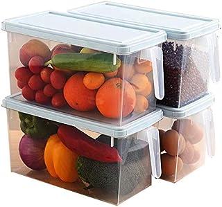 Nfudishpu Storage Box Kitchen Grain Nfudishpu Storage Box Refrigerator Food Nfudishpu Storage Box Plastic Transparent Seal...
