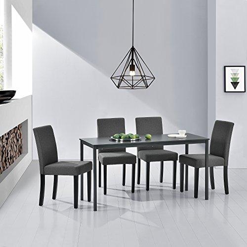 Hochwertiger Esstisch mit 4 Stühlen modern kaufen  Bild 1*