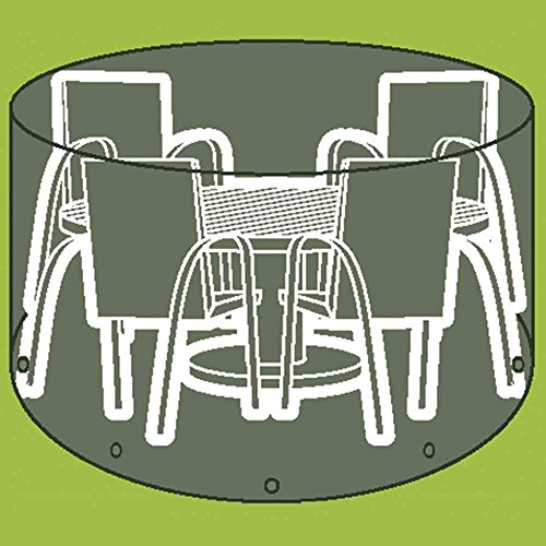 Siena Garden Abri de Protection pour Table Pique-Nique et chaises en polyéthylène, diamètre 320 x Hauteur 96 cm, Transparent