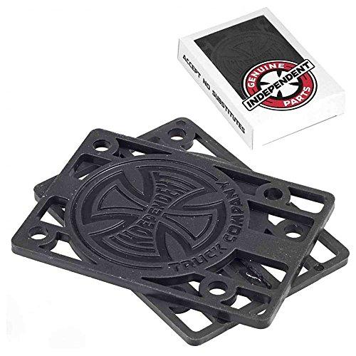 Indy Unabhängige Skateboard Riser Pads 2Stück schwarz 1/20,3cm