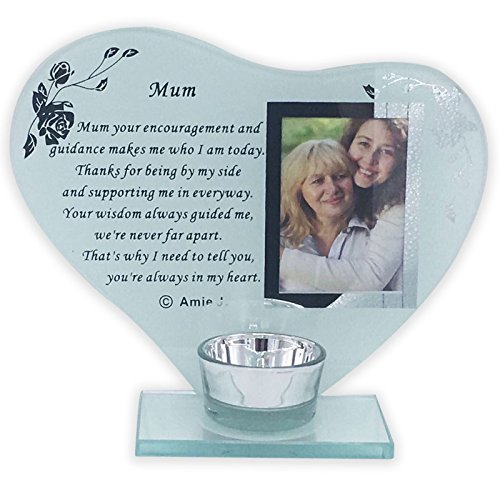 SISTER, MUM, SPECIAL FRIEND Glass Photo Frame Memorial Ornament Grave Plaque (Mum)