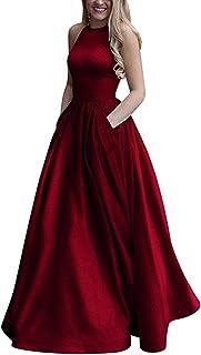 فساتين الحفلات الراقصة الطويلة للنساء من PromC 2020 مع جيوب فستان سهرة رسمي للمراهقات P009