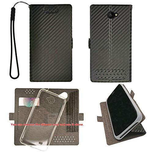 "Case for Unimax Umx U683CL Assurance Wireless 5"" Case TPU Soft + Flip Cover Stand Shell Black"