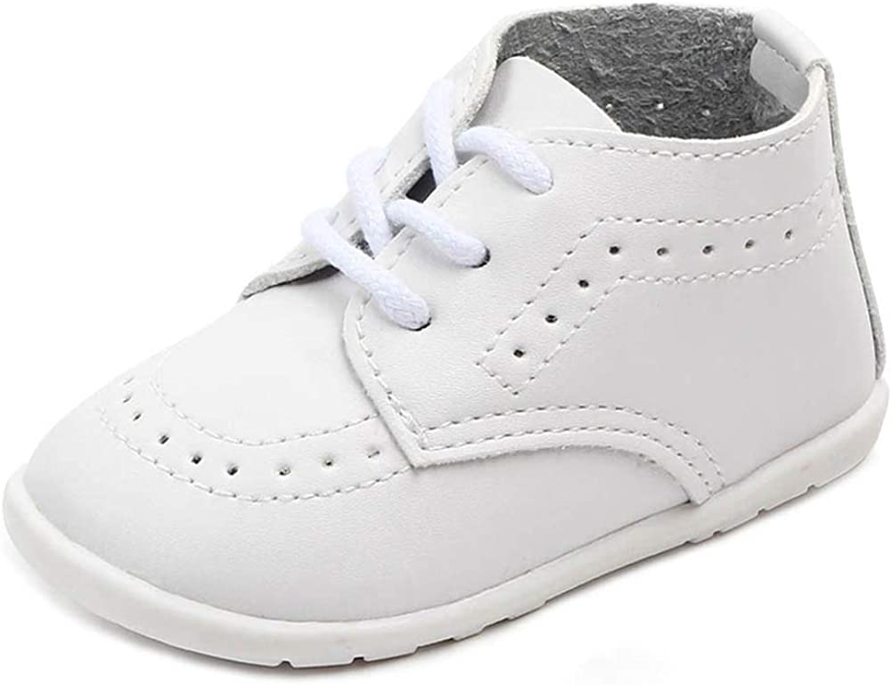 Anrentiy Baby Toddler Boys Girls Oxford Dress Shoes Classic Formal Infant First Walking Christening Shoes