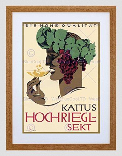 AD KATTUS HOCHRIEGL-SEKT WINE ALCOHOL VIENNA AUSTRIA FRAMED ART PRINT B12X4188