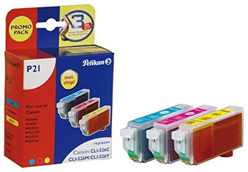 Pelikan Druckerpatronen ersetzen (Canon CLI-526C, CLI-526M, CLI-526Y)