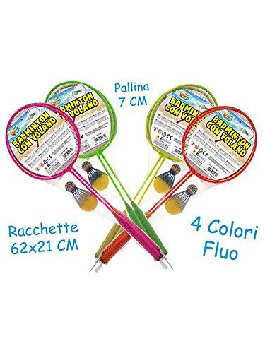Teorema Juguetes - Raquetas Badminton Fluo y Volante y Bola, Multicolor, 3.TE51282
