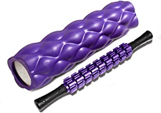 EVA Foam Roller Muscle Massage Stick Trigger Point,Perfect Self Massage Tool for Home Gym Pilates Yoga