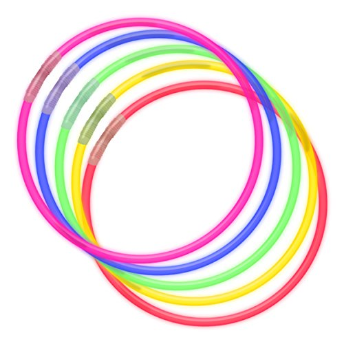 Premium 22 Inch Glow Necklaces in Assorted Colors, Bulk Tube of 50 Glow Stick Necklaces