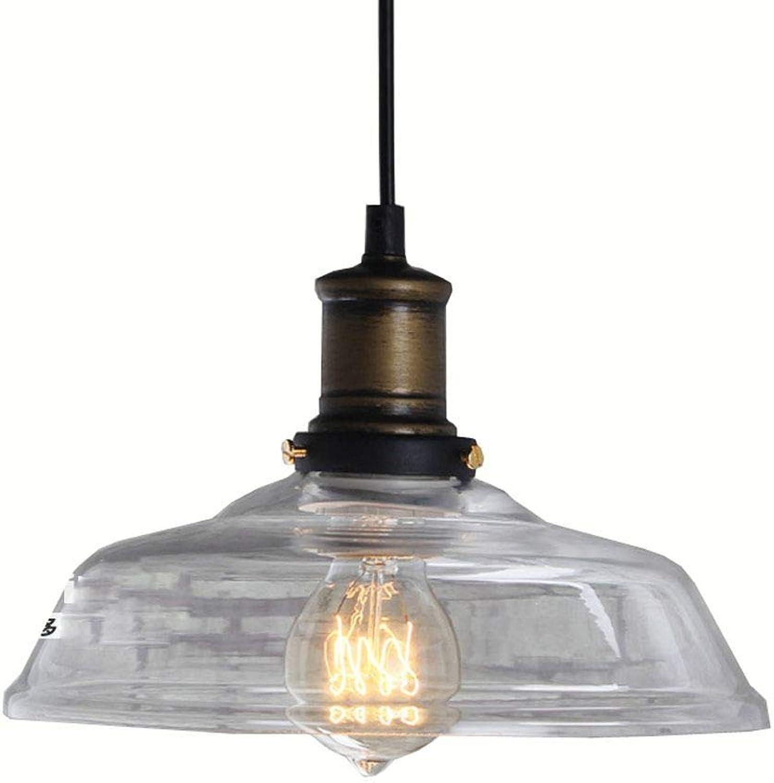Pays Vintage Rustique de Salle à Manger en verre Lustre plafond Fixations en verre Restaurant Pendentif Lampes Europe du Nord Comptoir de bar industriel Pendentif Lampes