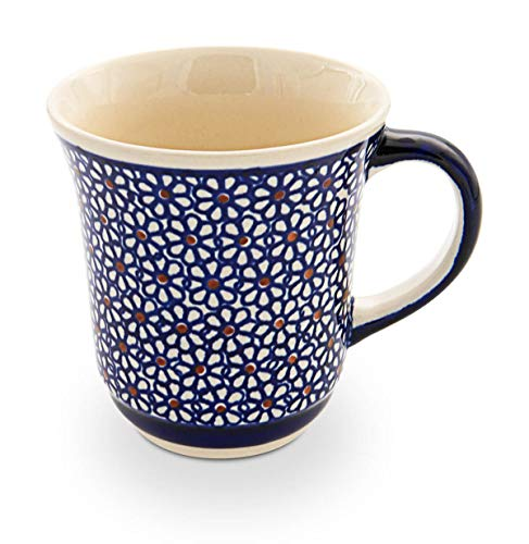 Bunzlauer Keramik Becher, Ø 12,2 cm, H = 10,3 cm, V = 0,3 Liter, Dekor 120