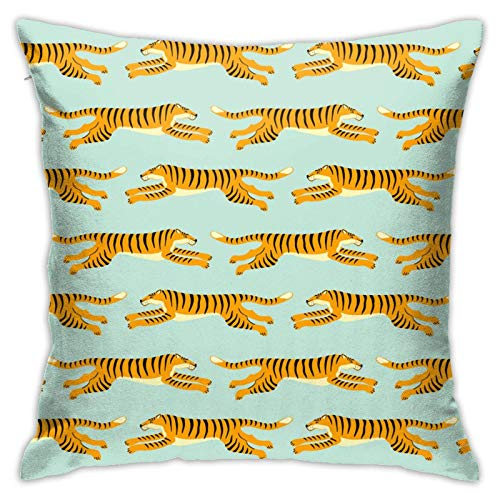 Xiangyang Cojines,Cushion Sofa Exotic with Tigers Design Funda de Almohada Cuadrada, Moderna Funda de Almohada Decorativa, Adecuada para Decorar sofá, 45X45cm