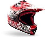 ARMOR Helmets AKC-49 Casco Moto-Cross, DOT certificato, Rosso, XS (51-52cm)