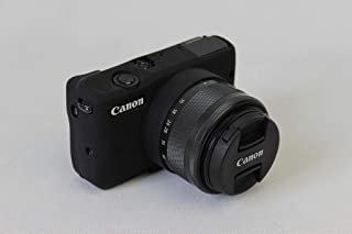 Canon キヤノン PEN EOS M10 M100 カメラカバー シリコンケース シリコンカバー カメラケース 撮影ケース ライナーケース カメラホルダー、Koowl製作、外観が上品で、超薄型、品質に優れており、耐震・耐衝撃・耐磨耗性が高い (ブラック)