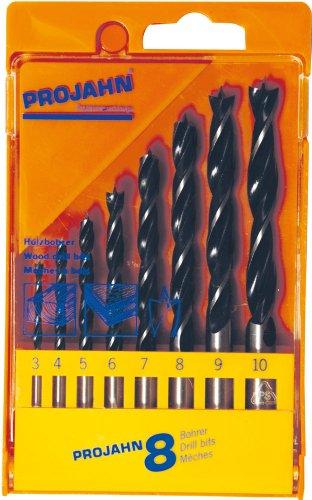 Projahn Holz-Spiralbohrer-Satz 8tlg. 3-10mm ECO in Kunststoffkassette, 67040