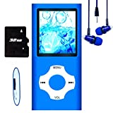 Hotechs MP3-Player/MP4-Player, MP3-Player mit 32 GB Speicherkarte, schlankes Design, digitales LCD-Display, 4,6 cm