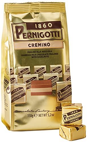 Pernigotti, Praline Cremino di Cioccolato Gianduia, con uno Strato di Crema alle Nocciole, Senza Olio di Palma, Senza Glutine, Confezione da 150 gr
