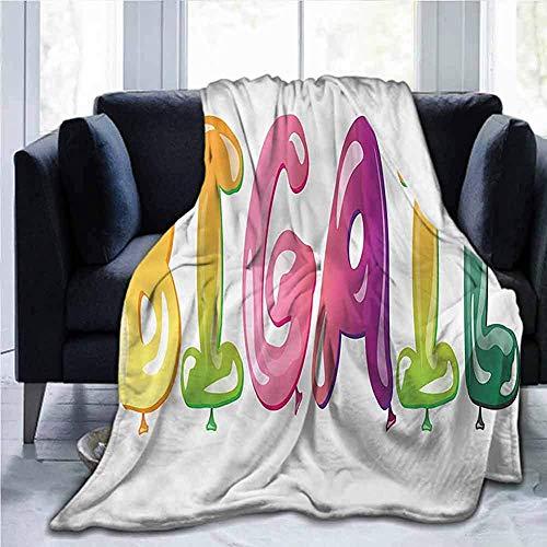 Leisure-Time Couverture de lit en Flanelle Super Doux Jeter des couvertures Abigail, nom de Fille de Joie de pères, pour Enfants Adultes bébé bébé Chien Chat