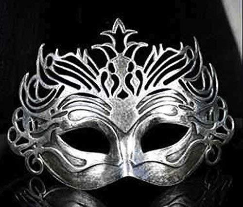 Le caoutchouc plantation TM 619219290234 Argent romain en filigrane pour homme vénitien Bal masqué fête accessoire de costume de bal, adulte, taille unique
