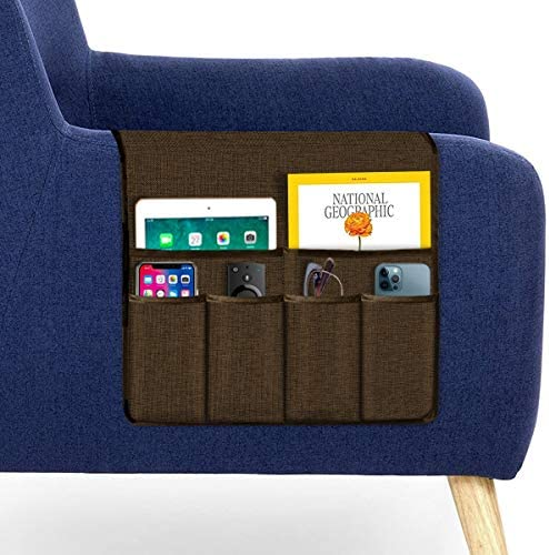 Guken Sofa Armrest Organizer Couch Arm Chair Caddy Storage with 6 Pockets for TV Remote Control product image
