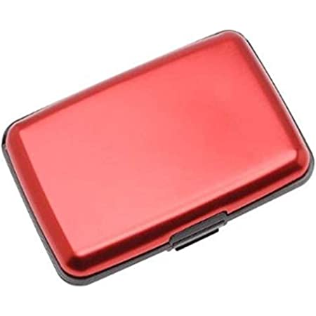 Aluminium Credit Card Holder Wallet CASE Purse Metal Business Card Protector UK (RED)