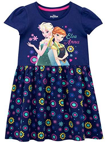Disney Mädchen Die Eiskönigin Kleid Frozen Blau 110