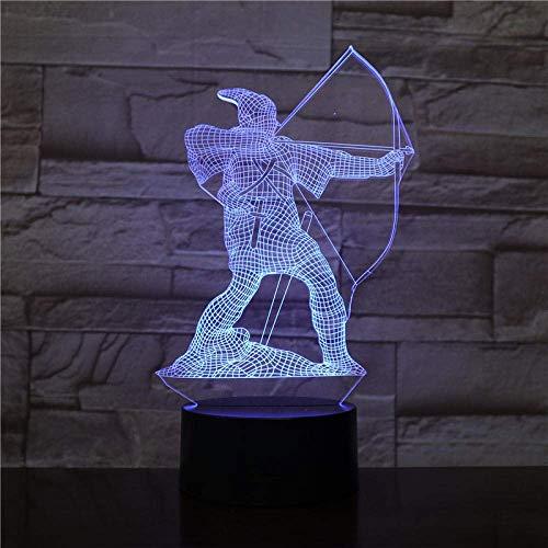 LBMTFFFFFF Lámpara de Luz de Noche Lámpara de Ilusión 3D Luz de Noche Llevada la Lámpara de Escritorio Decorativa