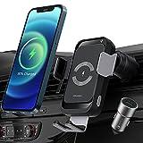PRUKEU Qi Caricatore Wireless Auto Induzione Automatica Supporto Cellulare Auto 15W/10W/7.5W for iPhone 12/11/X, Galaxy S21/S20/S10/S9, Note 20/10 etc
