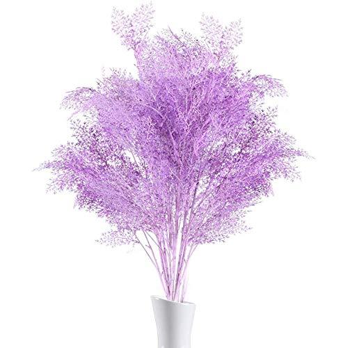 TODGLG 4 Pieza pequeña decoración Floral Artificial, 6 Corsage Planta Artificial decoración de la Planta, Pradera de Hierba Flor de plástico Boda Fiesta Fiesta terraza jarrón Mesa Mesa púrpura