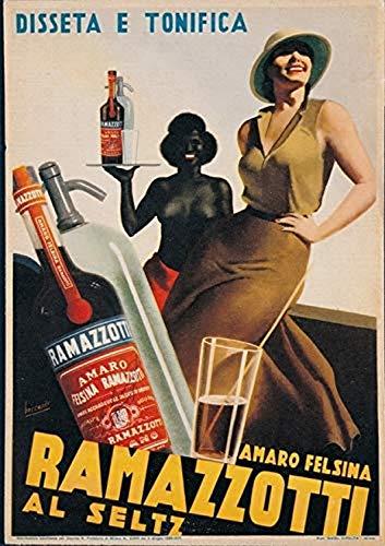 Posterazzi Advertising Amaro Felsina Ramazzotti Poster Print, (24 x 36)