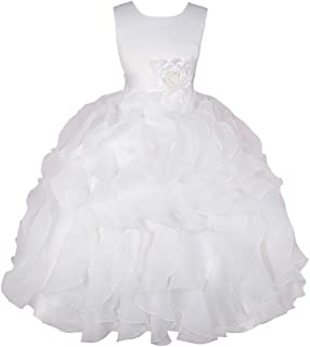 Lito Angels Girls Flower Girl Dresses Pageant Gown Party Occasion Dress Satin Organza Ruffle