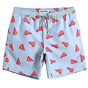 maamgic Mens Swim Shorts with Mesh Lining Swim Trunks Quick Dry Swimwear Funny Bathing Suits